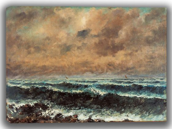 Courbet, Gustave: Autumn Sea. Fine Art Canvas. Sizes: A4/A3/A2/A1 (003983)